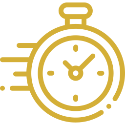 An icon depicting a stop watch moving fast.