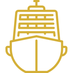 An icon depicting a cruise ship.