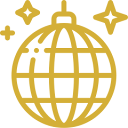 An icon depicting a disco ball.