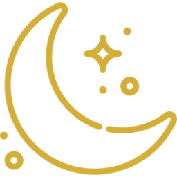 An icon depicting the moon and stars.