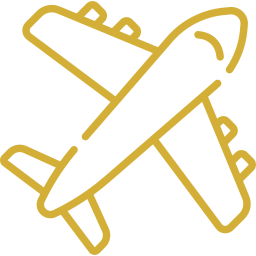 An icon depicting a plane.