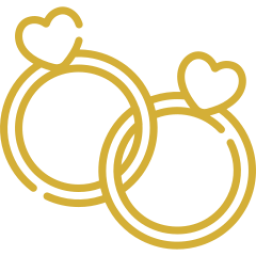 An icon depicting two wedding rings.