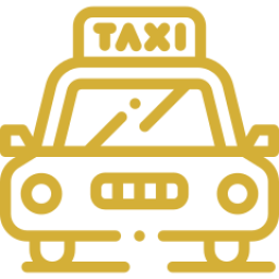 An icon depicting a taxi.